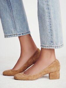 New Free People X Jeffrey Campbell Cyndi Suede Block Heels Size 10 Ebay