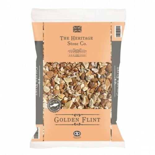 Sacchetti di GOLDEN Flint DECORATIVA DA GIARDINO Pietra Ciottoli Chips 20kg