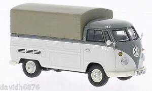 Prime Classix Vw T1 Pick Up Avec Toile Gris-13900