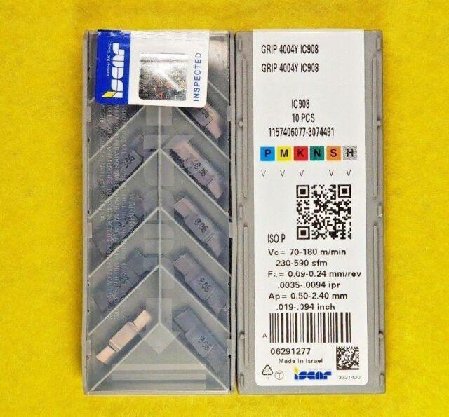Iscar GRIP 4004Y IC908; 10 inserts/box