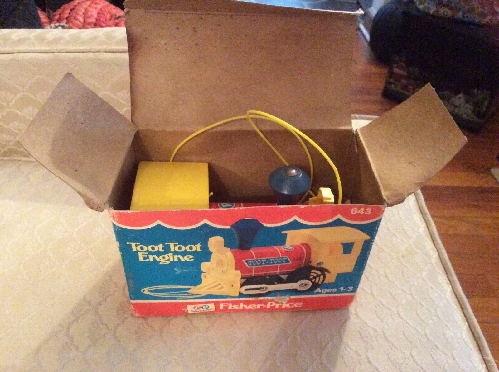 Vintage Fisher Price Toot Toot Engine Rare Rare Rare to find New In Box 12a738