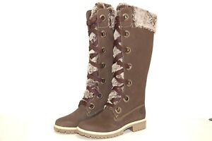 Image is loading Timberland-91337-Chocolate-Women-Boots 7b32ec6211
