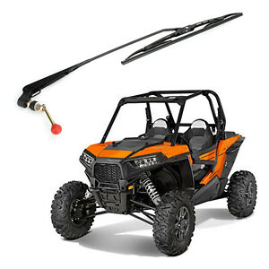 Utv Manual Windshield Wiper Universal For Polaris Ranger Rzr Kawasaki Mule Teryx Ebay
