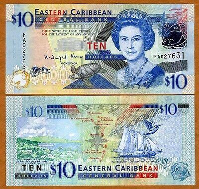 Eastern East Caribbean, $10, 2008, P-48, UNC