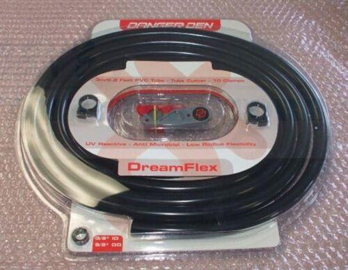 """5//8/"""" OD UV Black PVC Tubing Kit Danger Den DreamFlex 3//8/"""" ID Clamps /& Cutter"""