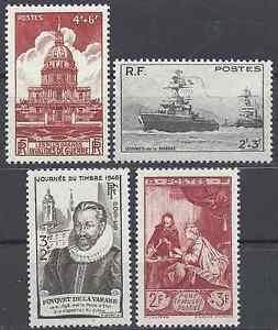 4-Francobolli-1946-N-751-752-753-754-Neuf-Luxe-MNH