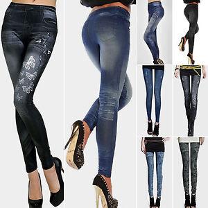 Womens-Skinny-Leggings-Slim-Fit-Denim-Jeans-Jeggings-Stretchy-Pants-Trousers-Hot