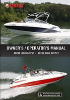 Yamaha Ar 230 & Sx 230 High Output 2009 Owners Manual Free Shipping Paperback