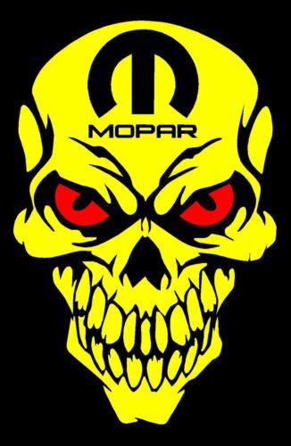 MOPAR Skull decals YW Sticker Dodge Charger Challenger Ram Dart 1500 Hemi Truck