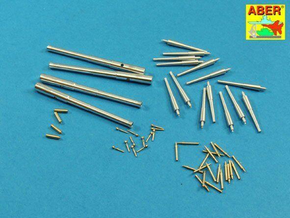 BATTLESHIP MIKASA 12in, 6in, 12pdr & 37mm BARRELS (50 PCS) L07 1 200 ABER