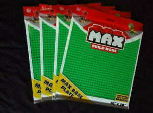 "Lot of 4 Max Build More Base Plates, 10"" x 10"" Green New Sealed Compatible"