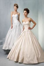 Ian Stuart Blueberry Hill Wedding Dress. Pale Gold. UK 10