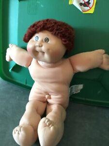 1982 Cabbage Patch Doll Boy Red Brown Loop Hair Brown Eyes Dimples