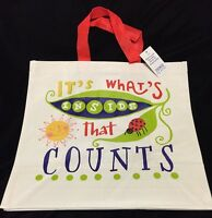 Tesco It's What's Inside That Counts Bag Ladybug Sun Eco Reuse Gift Shop Tote
