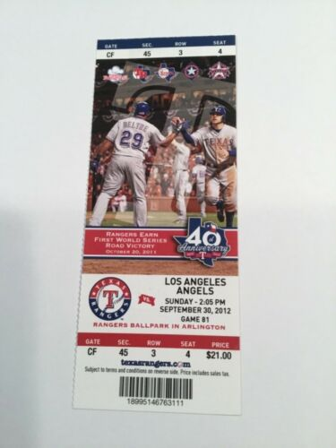 2012 RC Mike Trout Full Ticket Youngest player to hit 30 Hr LA Angels