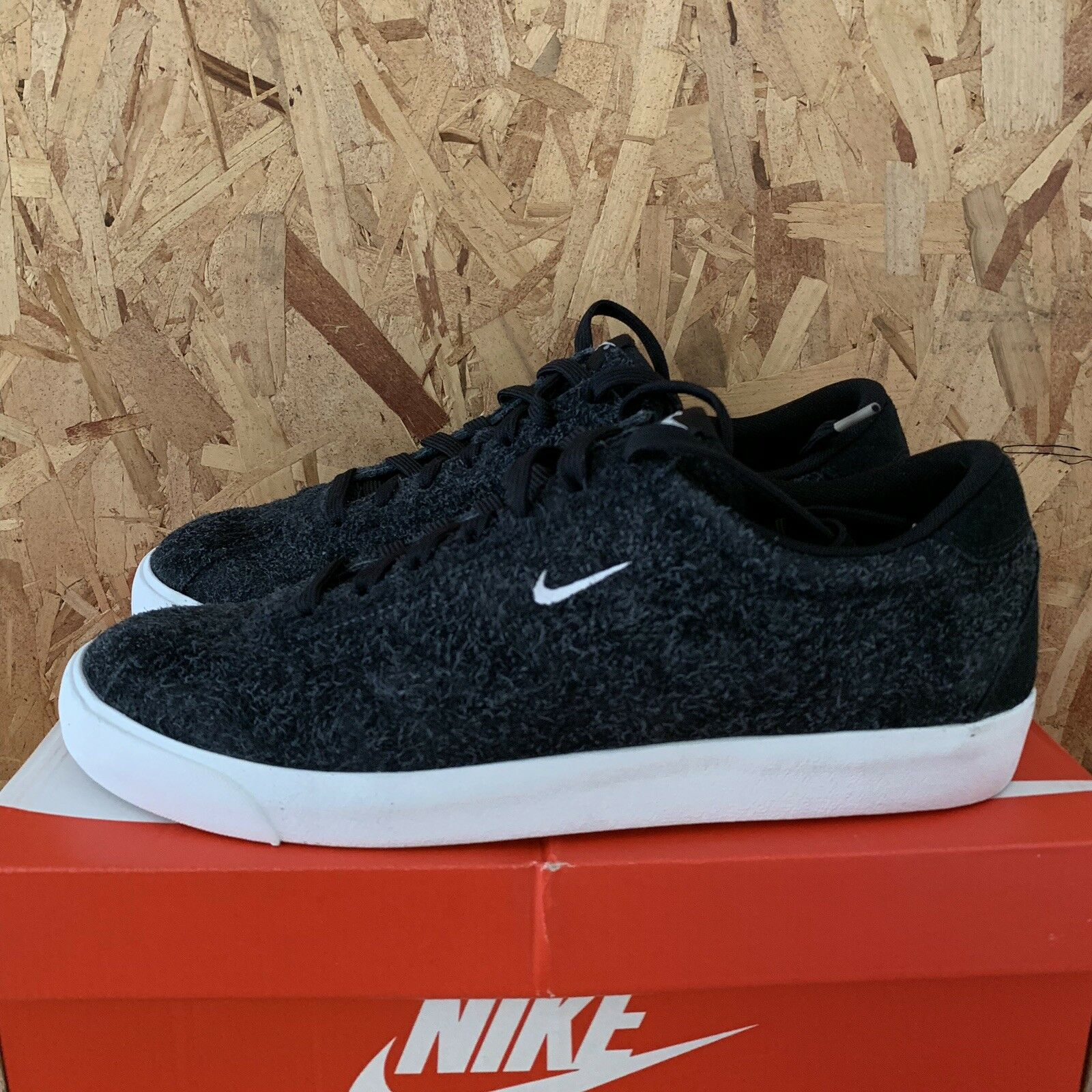 Nike Match Classic Suede - Black   Summit White Size 11.5 New