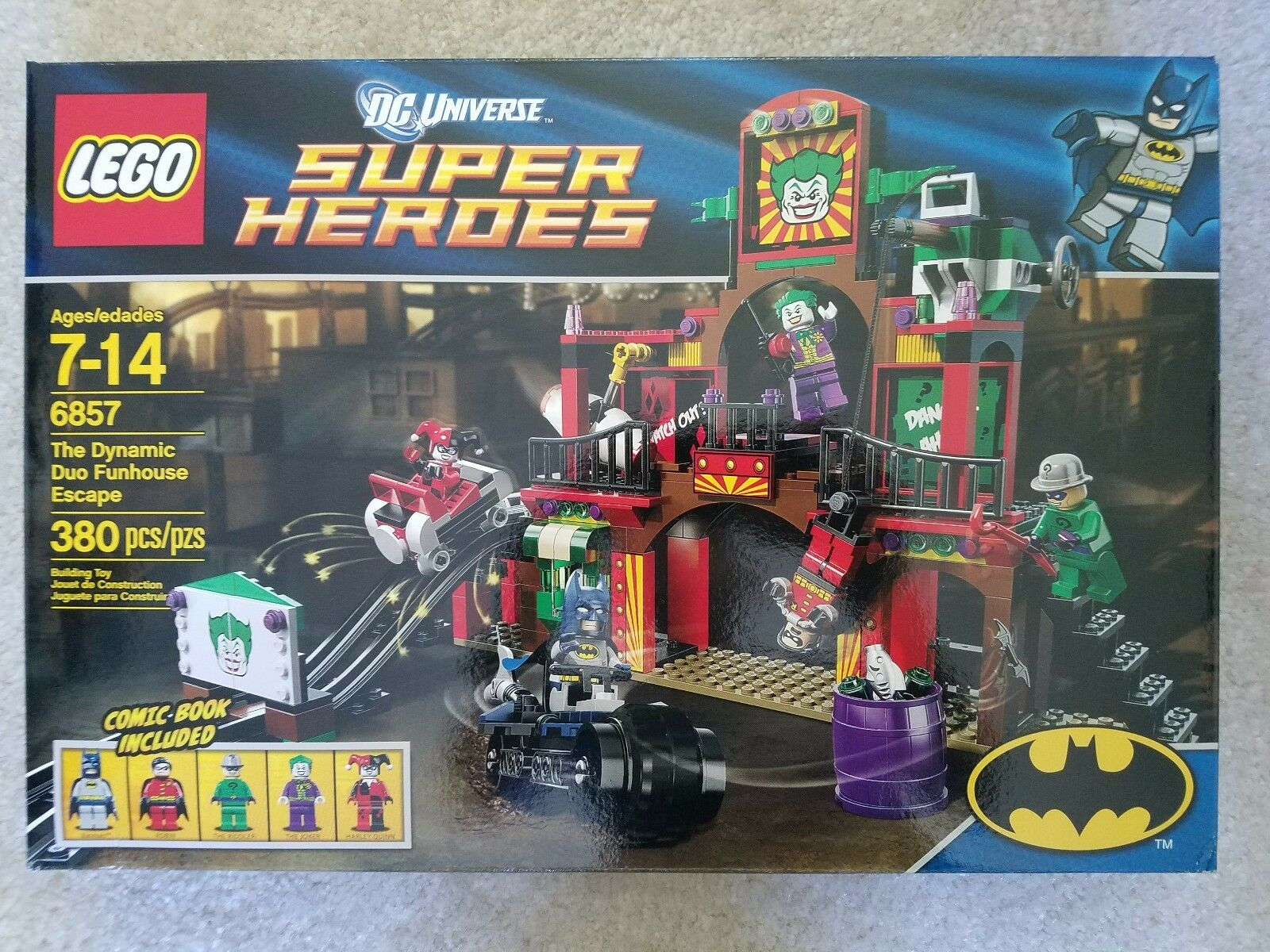 LEGO DC SUPERHEROES DYNAMIC DUO FUNHOUSE ESCAPE 6857 RETIrosso SEALED SOLD OUT