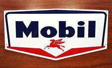 "1950's Style MOBIL SIGN -  24"" x 12.5""  Aluminum - Petroliana - FREE SHIPPING !"