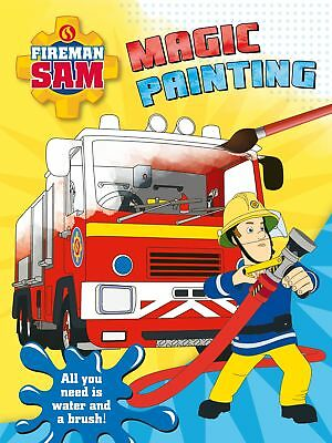 FIREMAN SAM PAINTING SET WITH PAINTS BRUSH AND PAINTING SHEETS