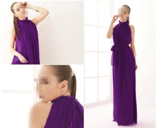 Women Maxi Chiffon Cocktail Evening Party Prom Formal Bridesmaid Gown Dress FEGD