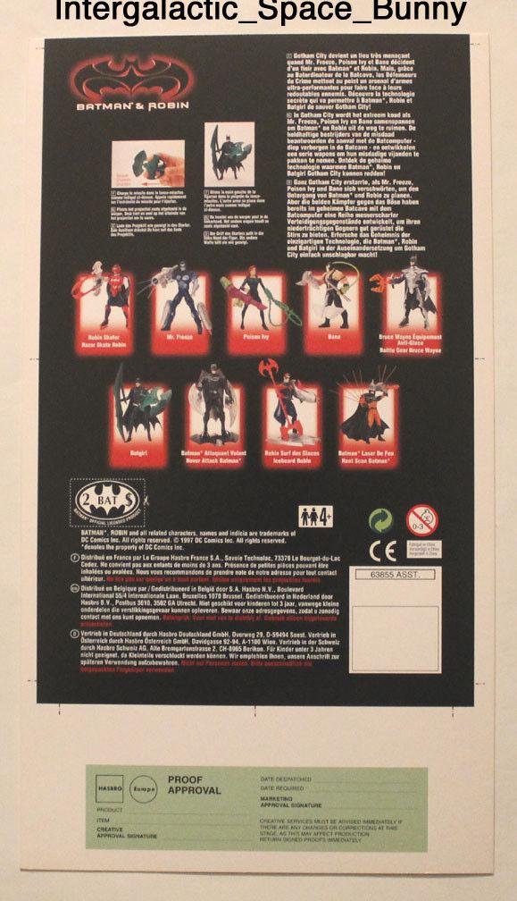1997 Kenner Batman & Robin Batgirl Proof Karte Prototype Vorproduktion