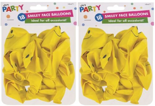 18 Pack ideal for all Occasions Smiley Face Balloons new