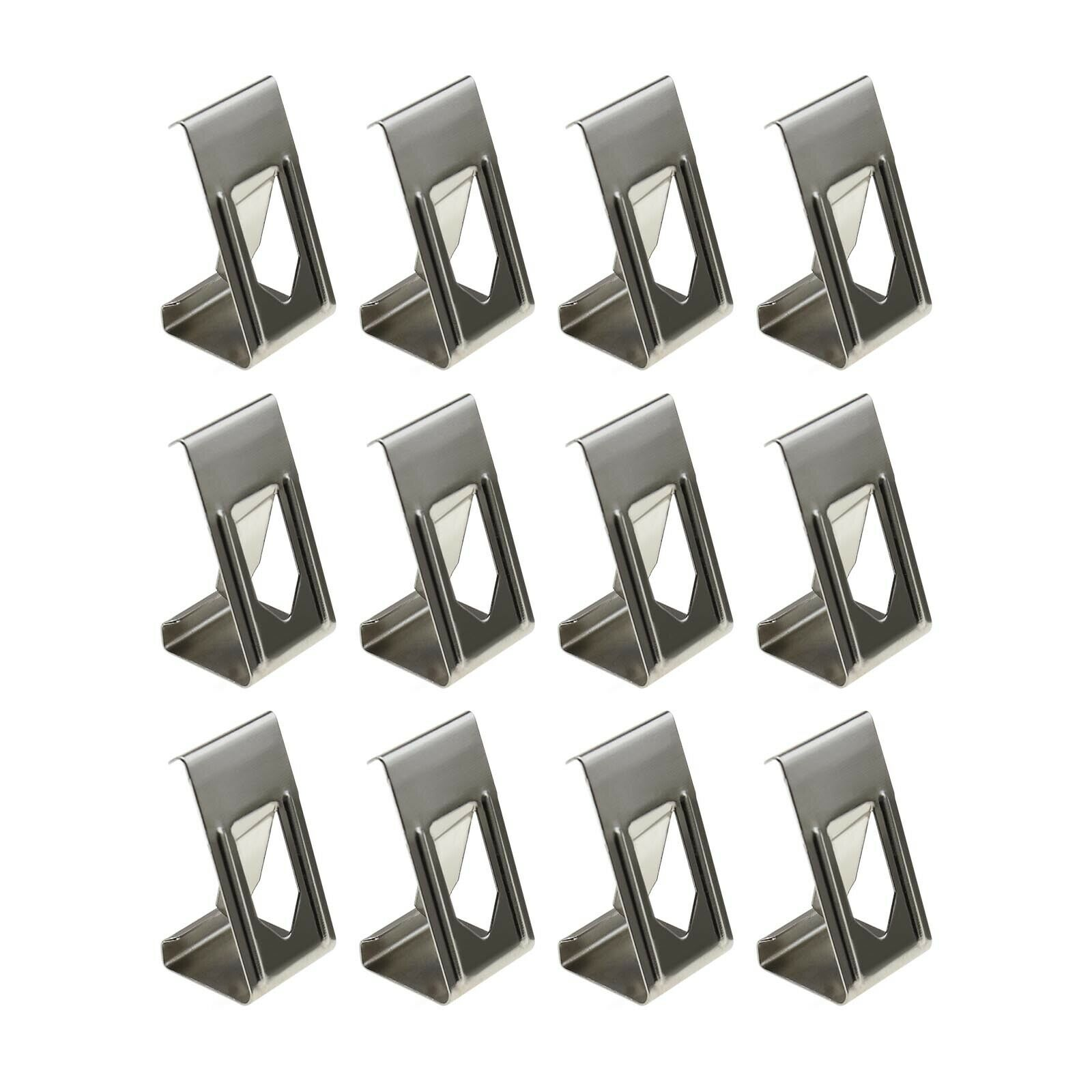 Silver 3D Printer Glass Bed Clips Picture Frame Metal Holder Clamps x50/x100