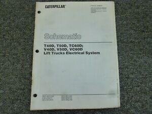 Cat Caterpillar T40D T50D TC60D Forklift Electrical Wiring Diagrams Manual    eBayeBay