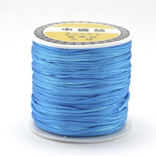 75m//roll Nylon Thread Rattail Satin Cord DIY Jewelry Beading Crafting String 1mm
