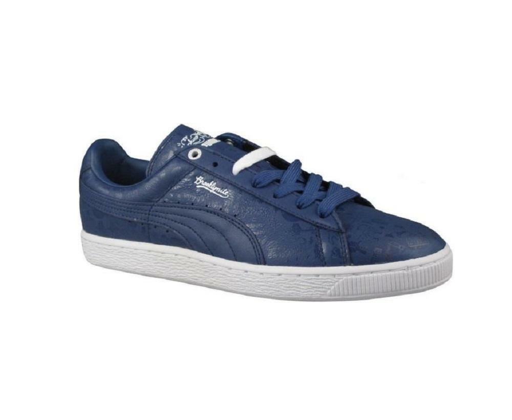 Mens PUMA BASKET CLASSIC X Sophia Chang Brooklynite Blue Trainers 357296 02