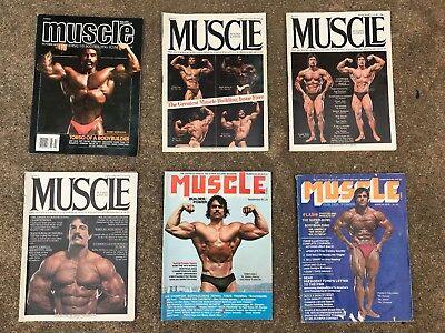 VINTAGE MUSCLE BUILDER AND POWER MAGAZINES LOT OF 6