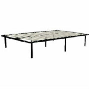 wooden slat bed frame black no box spring needed two inch wide 13 inches high ebay. Black Bedroom Furniture Sets. Home Design Ideas