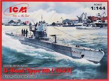 Plastic Model Building Kit U-boat Type IIB 1943 German Submarine 1/144 ICM S010