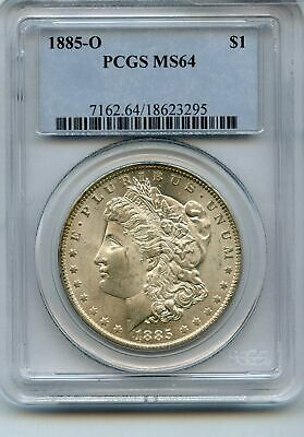 1885 US Morgan Silver Dollar $1 PCGS MS64