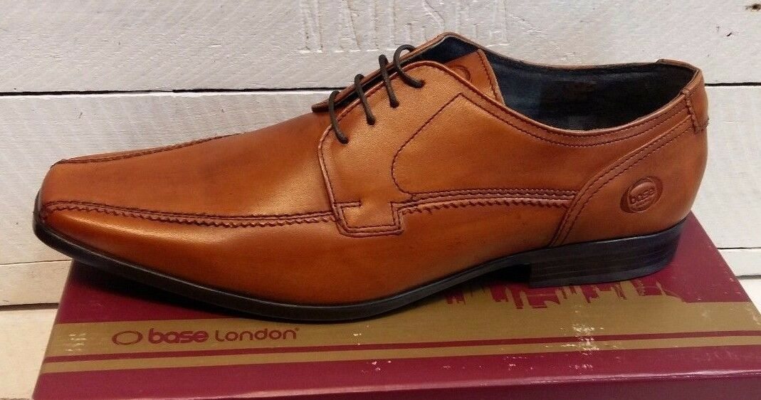 Men's Base London Lace Lytham Waxy Leder Tan Lace London Up Schuhes c1e7fd
