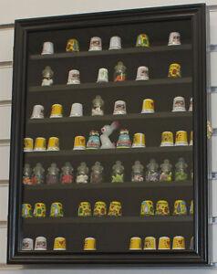Thimble Display Case Wall Shadow Box Cabinet, Glass Door, Solid ...