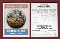 Sheldon BASEBALL ART card: #15 BABE RUTH, Yankees ~ Advertising/Promotional