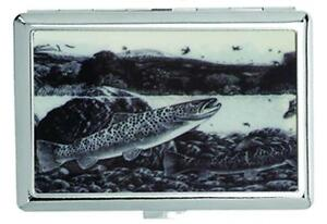 Metal Fish In River Cigarette Case Silver Tobacco Cases New Holder
