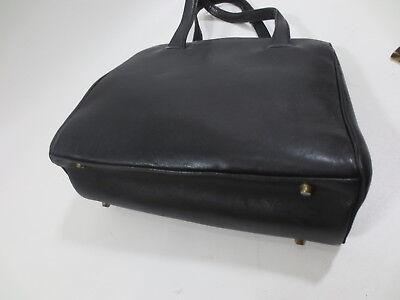 Handtasche Henkeltasche NOVABELL 50er ? Celluloid Kamm Leder schwarz vintage /35
