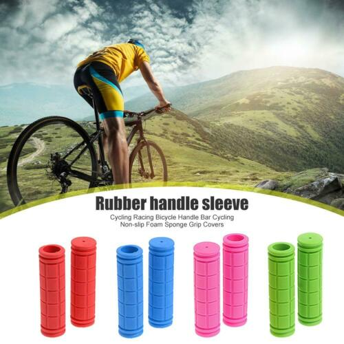 1Pair MTB Soft Rubber Handle Bar Grips Handlebar Grip Cycling Bike Bicycle Parts
