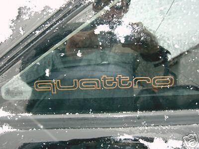 Audi Quattro Aufkleber Seitenscheibenaufkleber urquattro