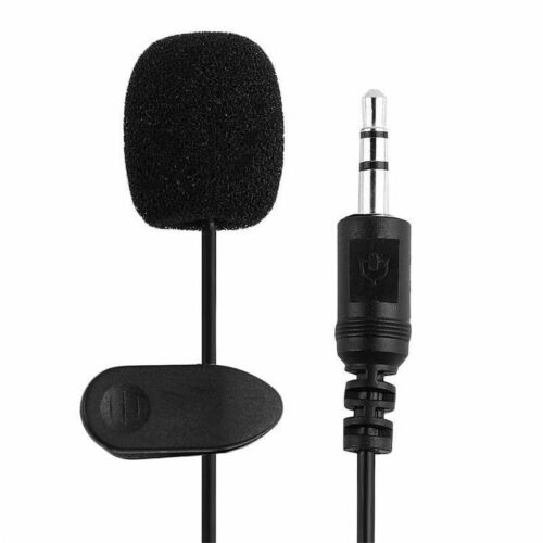 3.5mm Hands-Free Mini Wired Clip Lapel Lavalier Microphone For Phone PC Laptop