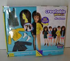 Customizable Chestnut Brown Wavy Hair NEW Creatable World Deluxe Character Kit