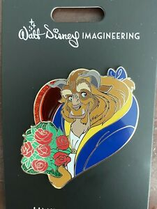 Disney-WDI-Valentine-039-s-Day-2020-Bouquet-Of-Roses-Beauty-And-The-Beast-Pin-LE250