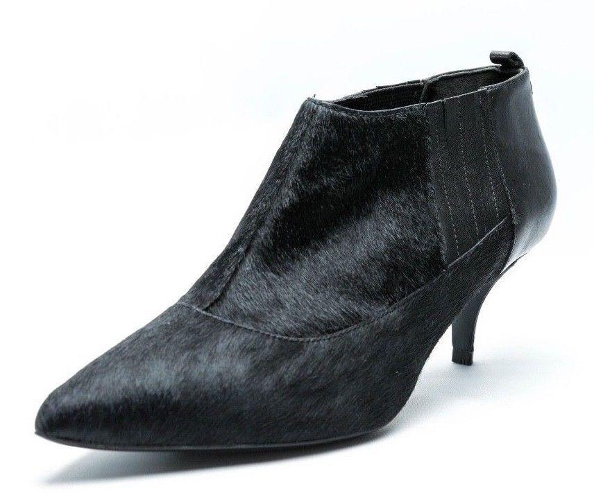 Kenneth Cole Reaction No Foolin nero leather kitten heel ankle avvio Dimensione 6.5
