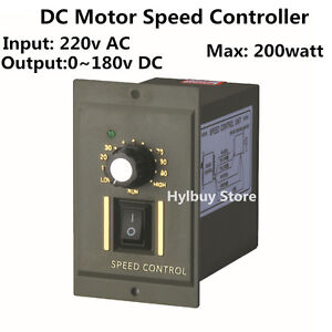 200w dc motor speed controller ac 220v output 0 180v for Dimmer for motor speed control