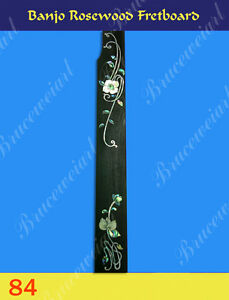 Free Shipping, Banjo Part - Rosewood Fretboard w/MOP Art Inlay (G-84)