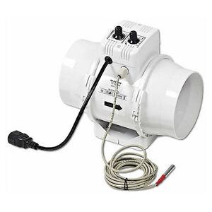 Extractor TT 125 Un 125mm Vents Termostato + Regulador de Potencia (280 m³/h)