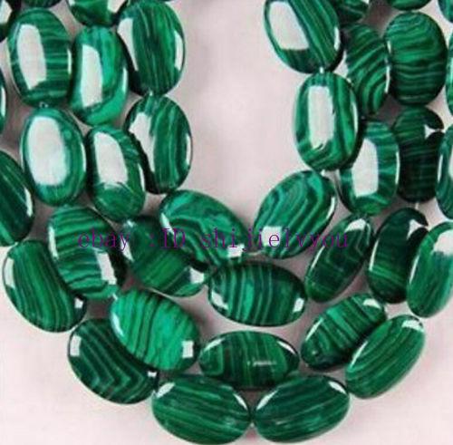 13X18mm Green Malachite Gems Oval Loose Bead 15/'/'