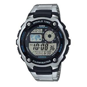 Casio-AE-2100WD-1AV-Black-Silver-Stainless-Steel-Digital-Sports-Watch-amp-Box